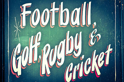 Sports Poster by Tom Gowanlock