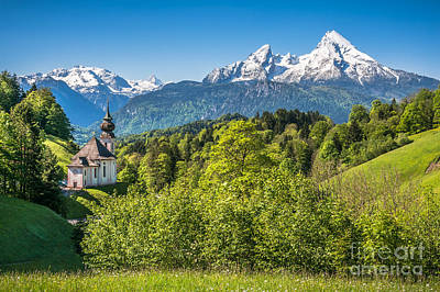 Spring Awakening In The Alps Poster by JR Photography