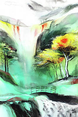 Spring Fall Poster by Anil Nene