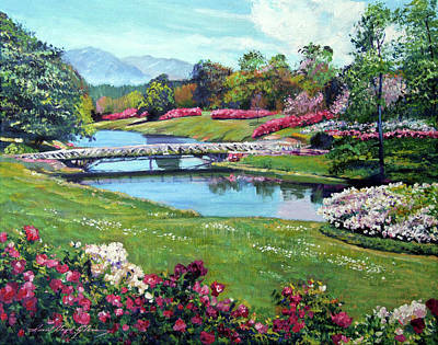 Spring Flower Park Poster by David Lloyd Glover