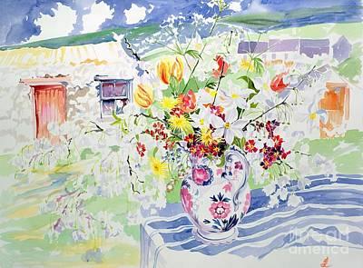 Spring Flowers On The Island Poster by Elizabeth Jane Lloyd