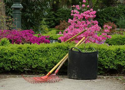 Spring Gardening Poster by Frank Tschakert
