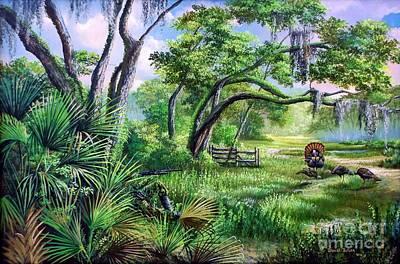 Spring Gobbler Season In The Florida Backwoods Poster by Daniel Butler