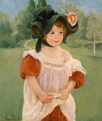 Spring, Margot Standing In A Garden Poster by Mary Cassatt