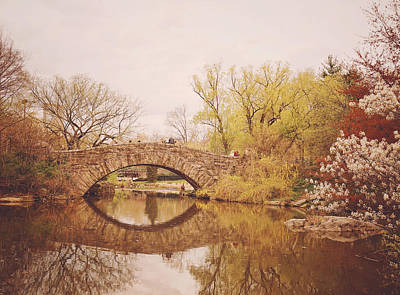 Spring - New York City - Central Park Landscape Poster by Vivienne Gucwa