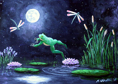 Spring On The Pond Poster by Amy Scholten