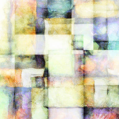 Squares And Rectangles - Abstract Art Poster by Ann Powell