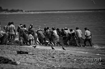 Sri Lankan Fishermen Poster by Venura Herath