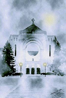 St. Boniface Cathedral Poster by Madeline  Allen - SmudgeArt
