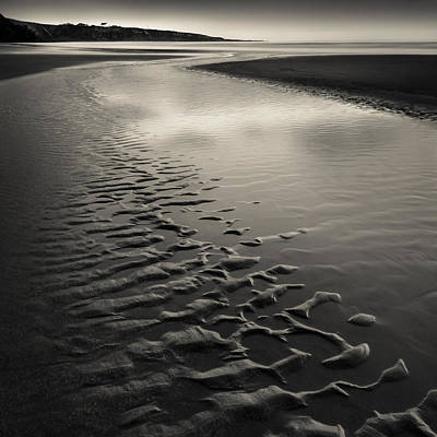 St Cyrus Sand Ripples Poster by Dave Bowman