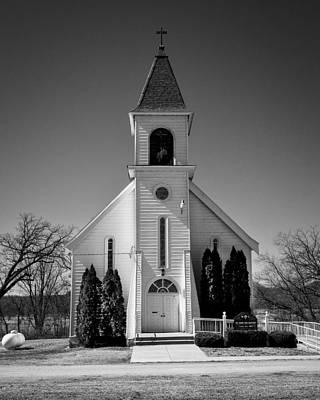 St John The Baptist Church - Arena - Wisconsin Poster by Steven Ralser