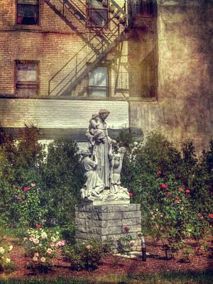 St. Leonard's Church Peace Garden - Boston Poster by Joann Vitali