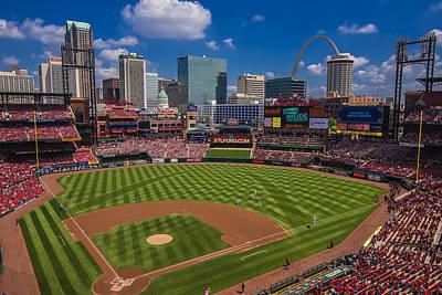 St. Louis Cardinals Busch Stadium Creative 16 Poster by David Haskett
