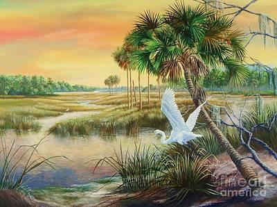 St. Marks National Wildlife Refuge- A Spring Oasis Poster by Daniel Butler