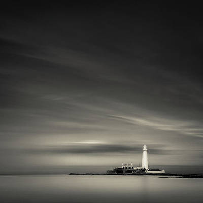 St. Mary's Lighthouse Poster by Dave Bowman