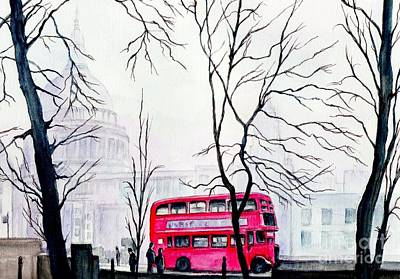 St Pauls Cathedral In The Mist  Poster by Morgan Fitzsimons
