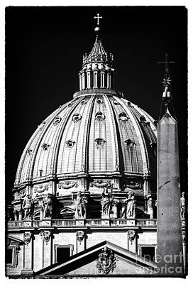 St. Peters Cupola Poster by John Rizzuto