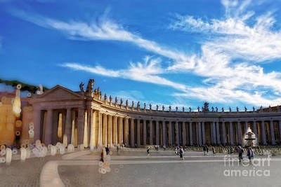St Peters Square, Vatican City Poster by HD Connelly