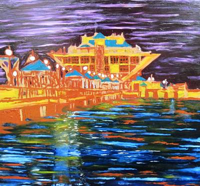 St Petersberg Pier Poster by Alfredo Dane Llana