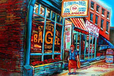 St. Viateur Bagel Bakery Poster by Carole Spandau