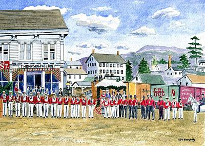 Stafford Springs Ct Firemen's Parade 1883 Poster by Jeff Blazejovsky