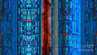 Stained Glass Abstract Poster by Jeff Breiman