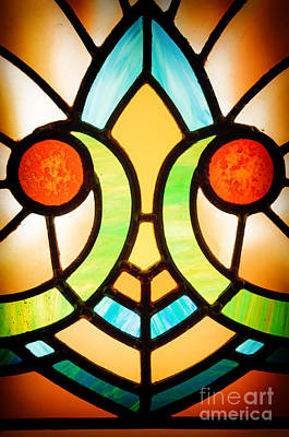 Stained Glass Detail Poster by Jane Rix