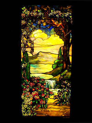 Stained Landscape Poster by Donna Blackhall