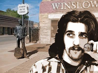 Standin On The Corner Poster by Greg Joens