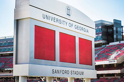 Standing Tall Over Sanford Stadium  Poster by Parker Cunningham