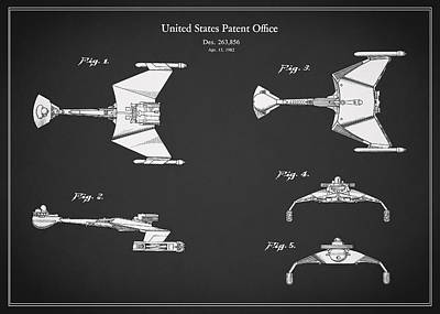 Star Trek - Spaceship Patent Poster by Mark Rogan