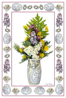 Star Vase With A Bouquet From Heaven Poster by Lise Winne
