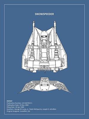 Star Wars - Snowspeeder Patent Poster by Mark Rogan