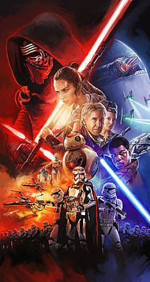 Star Wars The Force Awakens Artwork Poster by Sheraz A