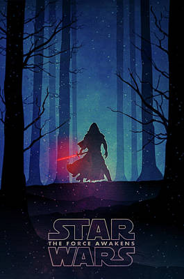 Star Wars - The Force Awakens Poster by Farhad Tamim