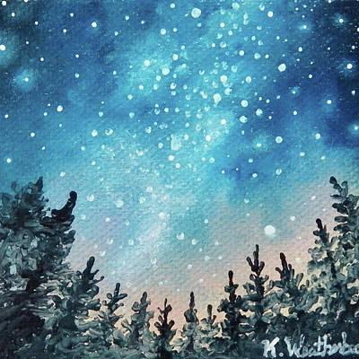 Starlit Milky Way Poster by Kari Weatherbee