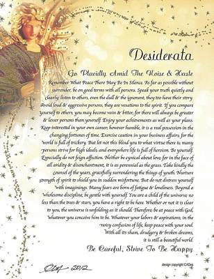 Starry Guardian Angel Desiderata Poster by Desiderata Gallery