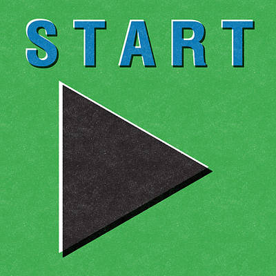 Start Button Poster by Linda Woods