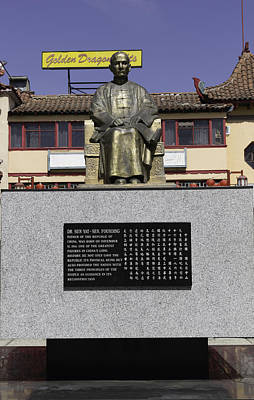 Statue Of Dr. Sun Yat-sen Poster by Teresa Mucha