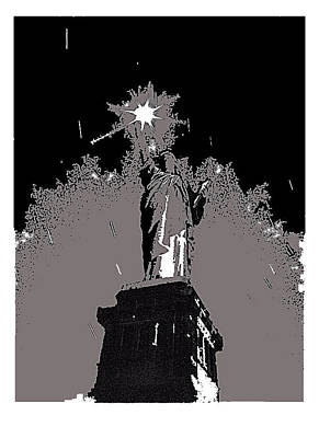 Statue Of Liberty Power Outage 1942-2014 Poster by David Lee Guss