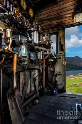 Steam Locomotive Footplate Poster by Adrian Evans
