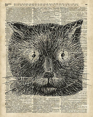 Steampunk Clock Cat Eyes Poster by Jacob Kuch