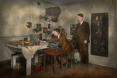 Steampunk - The Wireless Apparatus - 1905 Poster by Mike Savad