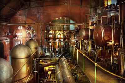 Steampunk - Think Tanks Poster by Mike Savad