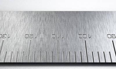 Steel Ruler Closeup Poster by Allan Swart