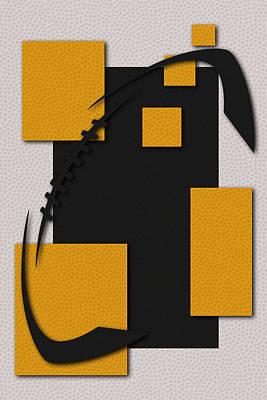 Steelers Football Art Poster by Joe Hamilton