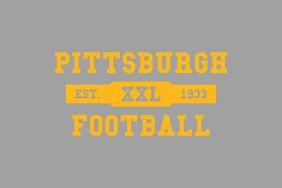 Steelers Retro Shirt Poster by Joe Hamilton