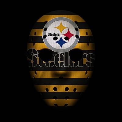 Steelers War Mask 2 Poster by Joe Hamilton