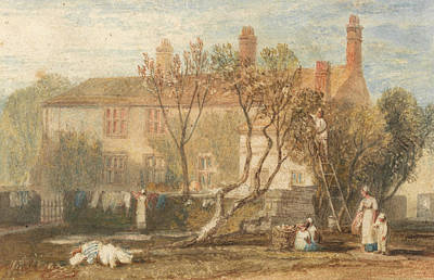 Steeton Manor House Near Farnley Poster by Joseph Mallord William Turner