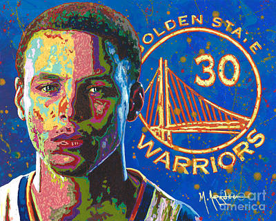 Steph Curry Poster by Maria Arango